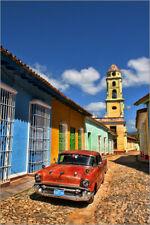 Acryl Glasbild / Wandbild Alter Chevy in Trinidad, Kuba - Bill Bachmann