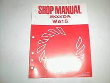 Honda Water pump WA15 1981 model 61YB000  Shop manual Vintage