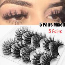 Feathered Effect Eye Lash Extension False Eyelashes Crisscross 3D Mink Hair