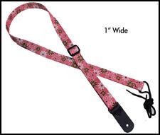 Legacystraps Mandolin Strap Ukulele Strap Pink Daisy Design