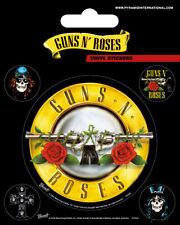 Guns N Roses Bullet Logo Vinyl Stickers November Rain Axl Rose Slash Rock Music