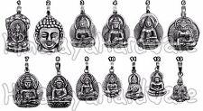 Silver Buddha Pendant 925 Sterling Nepal Buddhist medicine shakyamuni jewelry