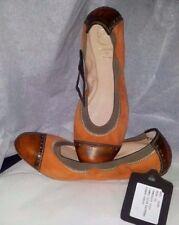 Scarpe Donna Woman Shoes Flat Ballerine Camoscio Arancione MADE ITALY Schuhe