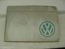 VW OWNERS MANUAL 1988 jetta  used oem