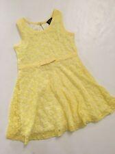 Lilt Girls Easter Yellow Lace Skater Dress Size 2T 3T 4 5 6 6X Sleeveless NWOT
