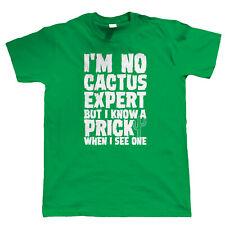 Cactus Expert Hommes Drôles Offensive T Shirt Cadeau D'Anniversaire Pour Lui Papa Fils