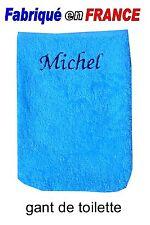 Gant de toilette Bleu NEUF brodé au prénom