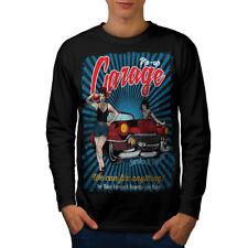 Pin Up garage auto Hommes T-shirt à manches longues Nouveau | wellcoda