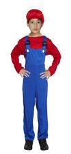Boys kids SUPER WORKMAN Plumber Children's Fancy Dress Costume Book Week outfit