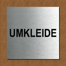 Schild Türschild Edelstahl Design Piktogramm - Umkleide