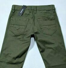 New Diesel Thommer Mens Slim Jeans Military Green Stretch Denim Skinny RRP £160