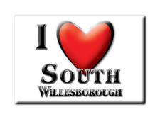SOUVENIR UK - ENGLAND MAGNET UNITED KINGDOM I LOVE SOUTH WILLESBOROUGH (KENT)