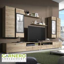Parete attrezzata GLAMOUR legno mobile soggiorno salotto base tv televisione