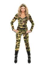 3 Pc Costume - Combat Warrior- Army Plus & Regular Sizes! Adult Woman