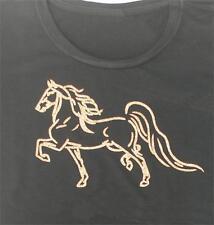 American Saddlebred Gold Glitter Wearable Art Ladies Tee shirt black