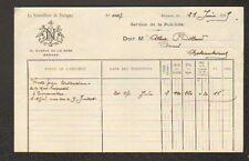 """RENNES (35) JOURNAL / IMPRIMERIE """"LE NOUVELLISTE DE BRETAGNE"""" en 1909"""
