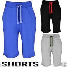 Nouveau homme gym jersey uni summer short poids léger baggy fit avec poches zippées
