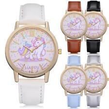 Fashion Cute Unicorn Happy Girls Women Wrist Watch MultiColor New Free Track