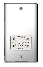 BG Nexus Metal NPC20W - POLISHED CHROME Dual Voltage Shaver Socket 115 / 230V