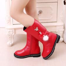 Children'S Winter Boots For Girls Rhinestone Flower Fashion Plush Boots