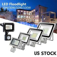 Industrial Pir Motion Sensor 50W 100W Led Floodlight Lighting Fixture Warehouse