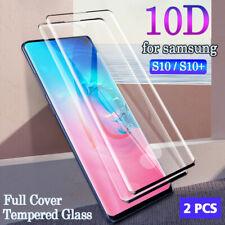2x Samsung Galaxy S10 S9 S8 Full Cover Schutzglas Panzerfolie mit Fingerprint