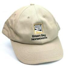 Green Bay Nonwovens Adjustable Baseball Hat Cap Khaki Beige Uniform