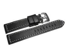 Uhrenarmband - Sattelleder - massives Leder - schwarz - 18,20,22,24 mm