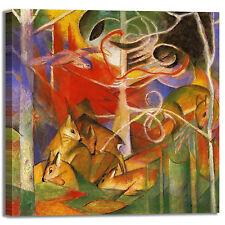 Franz Marc cervi nel bosco 1 quadro stampa tela dipinto telaio arredo casa