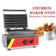 Commercial Electric Churros Maker Oven Waffle Machine Nonstick 5PCS  29.5CM