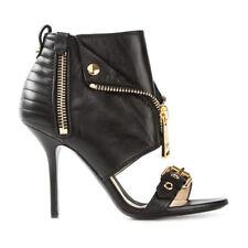 Womens Punk High Heels Open Toe Side Zip Sandals Boots Stilettos Nightclub Shoes