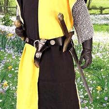 MEDIEVAL KNIGHT FANTASY Unisex Black Leather Adjustable BELT SWORD HOLDER New