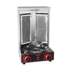 ITOP Grill Shawarma à 2 brûleurs automatique rotatif Doner Kebab Machine