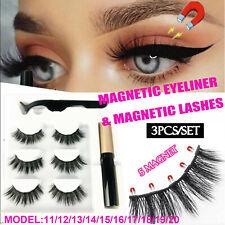 Magnetic Natural False Eyelashes Eye Lashes Extension Liquid Eyeliner Tweezer