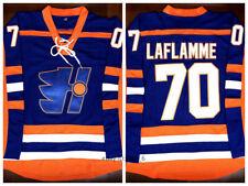 Goon Xavier LaFlamme #70 Halifax Highlanders Movie Hockey Jersey Stitched Blue