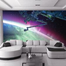 Stars Planet Earth Space Ships Galaxy Aurora Kids Wall Mural Photo Wallpaper