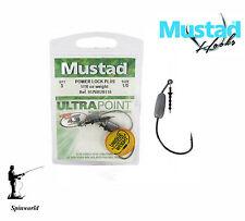 Mustad off set Predator Hooks Power lock Plus VARIETY SIZES  with 1/8oz weight