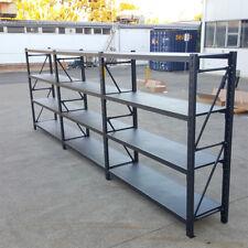 4.5M Metal Warehouse Racking Storage Garage Shelving Shelf Shelves - Matte Black
