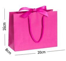 Cerise Pink Small Ribbon Gift Bags Rope Handle Hen Party Bridesmaid Wedding Bag