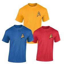 Uniform T Shirt costume fan Captain Kirk Spock Enterprise Starfleet Star Trek
