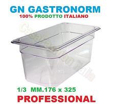 BACINELLA GN 1/3 POLICARBONATO GASTRONORM VASCA PROFESSIONALE VARIE MISURE