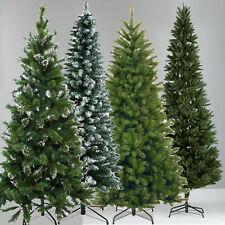 Christmas Artificial Colorado Slim Frosted Snow Tips Metal Stand Decor Tree Xmas