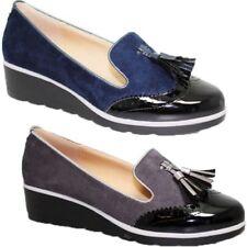 FLC136 Karina Charol ante Artificial Mocasines Zapato Oxford sin Cordones de