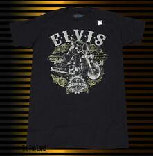 New Elvis Presley 50s The King Motorcycle Rustic Retro Vintage T-Shirt