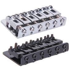 Alloy Guitar Bridge 65mm 6 Saddle Hard-tail Bridge for Cigar Box Electric Guitar