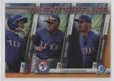 2017 Bowman #TP-TEX Leody Taveras Andy Ibanez Ronald Guzman Texas Rangers Card