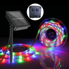3M Solar Powered LED Strip Lights Flexible Tape Garden Outdoor Fence Lamp Light