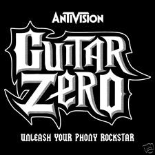 Guitar Zero Guitar Hero Parody Rock Band Karaoke Video Game Funny Shirt NFT438