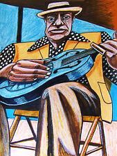 BUKKA WHITE PRINT poster mississippi delta blues concert cd slide steel guitar