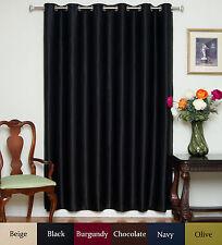 "RETURNED ITEM! Wide Width Nickel Grommet Top Blackout Curtain 80"" by 96"" Panel"